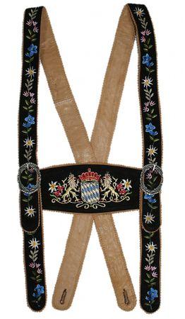 Hosenträger Bayernträger Lederhose Werdenfelser-Träger Lederhosenträger Leder – Bild 3