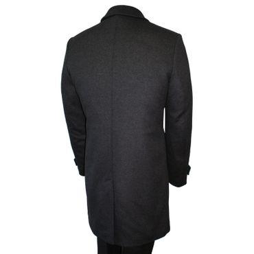 Steinbock Trachten-Lodenmantel Mantel Kurzmantel Trachtenmantel Walk Loden grau – Bild 2