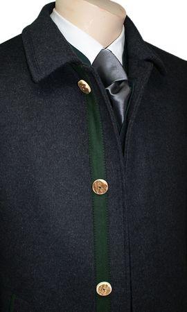 Steinbock Trachten-Lodenmantel Mantel Kurzmantel Trachtenmantel Walk Loden grau – Bild 5