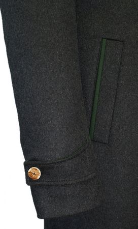 Steinbock Trachten-Lodenmantel Mantel Kurzmantel Trachtenmantel Walk Loden grau – Bild 8