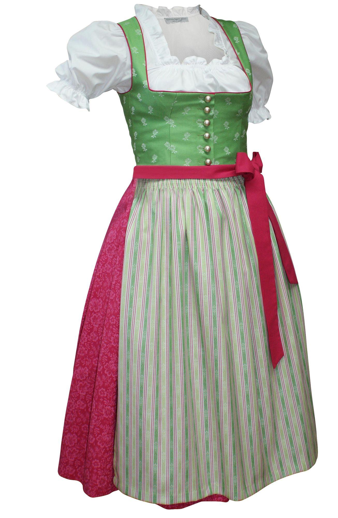 1628b651241f9b Baumwoll-Dirndl Trachten-Kleid Trachtenkleid Dirndlkleid Balkonett  Streublumen