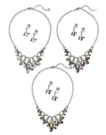 Dirndl-Collier Trachtenkette Halskette Trachtenschmuck Kette Schmuck + Ohrringe