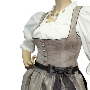 Dirndl Trachten-Kleid Trachtenkleid Balkonett Dirndlkleid Edelweiß Brokat Ball – Bild 8