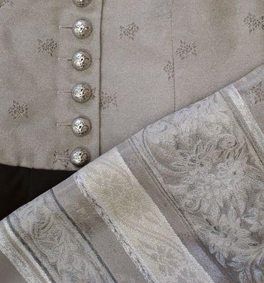 Dirndl Trachten-Kleid Trachtenkleid Balkonett Dirndlkleid Edelweiß Brokat Ball – Bild 4