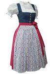 Dirndl Trachten-Kleid Trachtenkleid Dirndlkleid Leinen Baumwolle Baumwolldruck 001