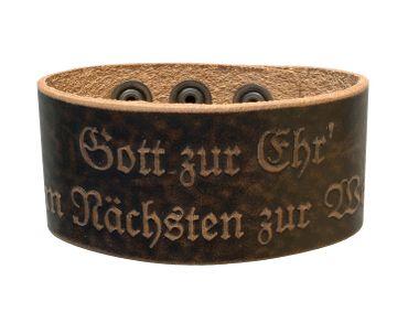 Lederarmband Armband braun Leder Jäger Tracht Bayern Austria O´zapft Feuerwehr – Bild 14