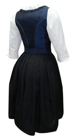 Dirndl Trachten-Kleid Trachtenkleid Balkonett Dirndlkleid f. Ball Taft blau grün – Bild 2