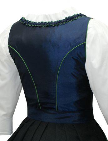 Dirndl Trachten-Kleid Trachtenkleid Balkonett Dirndlkleid f. Ball Taft blau grün – Bild 5