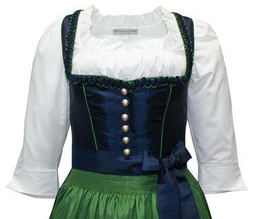 Dirndl Trachten-Kleid Trachtenkleid Balkonett Dirndlkleid f. Ball Taft blau grün – Bild 7