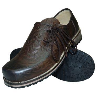 Trachtenschuhe Haferlschuhe Glattleder braun Herren-Schuhe Lederschuhe Schnürer – Bild 1