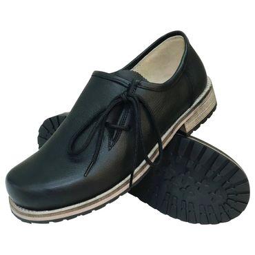 Trachtenschuhe Haferlschuhe Glattleder schwarz Herrenschuhe Leder Schnür-Schuhe – Bild 1