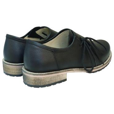 Trachtenschuhe Haferlschuhe Glattleder schwarz Herrenschuhe Leder Schnür-Schuhe – Bild 5
