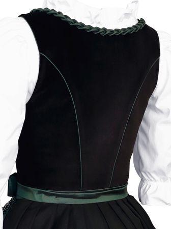 Dirndl Trachten-Kleid Trachtenkleid Balkonett Dirndlkleid Samt Schürze Pailetten – Bild 7