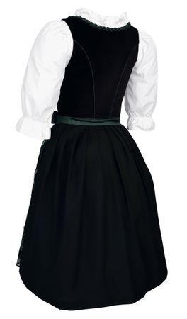 Dirndl Trachten-Kleid Trachtenkleid Balkonett Dirndlkleid Samt Schürze Pailetten – Bild 6