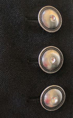 Dirndl Trachten-Kleid Trachtenkleid Balkonett Dirndlkleid Samt Schürze Pailetten – Bild 8