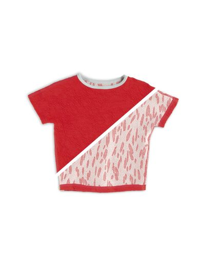 T-SHIRT REVERSIBEL (CRASH STRAWBERRY STRICK) – Bild 4