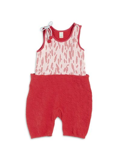 SUMMER OVERALL (CRASH STRAWBERRY KNIT) – image 2