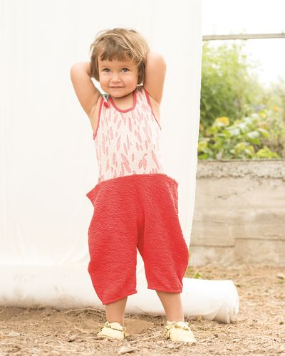 SUMMER OVERALL (CRASH STRAWBERRY KNIT) – image 1