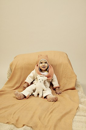 NEWBORN MERINO WINTER OVERALL (BOILED WOOL KNIT) – image 9