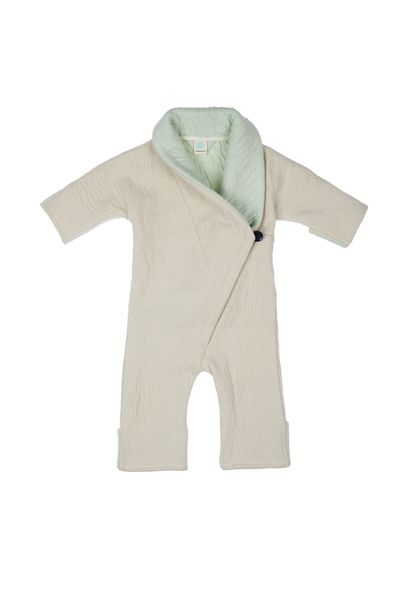 NEWBORN MERINO WINTER OVERALL (BOILED WOOL KNIT) – image 1