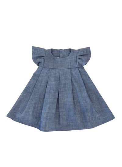 WINGS DRESS (LIGHT DENIM) – image 1