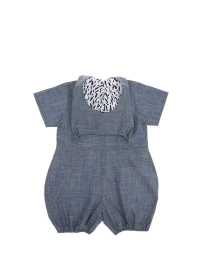 HOODED OVERALL (LIGHT DENIM) – image 4