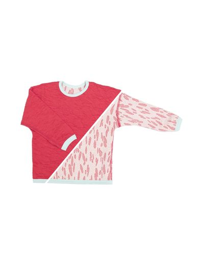 PULLOVER REVERSIBEL (CRASH STRAWBERRY STRICK) – Bild 1