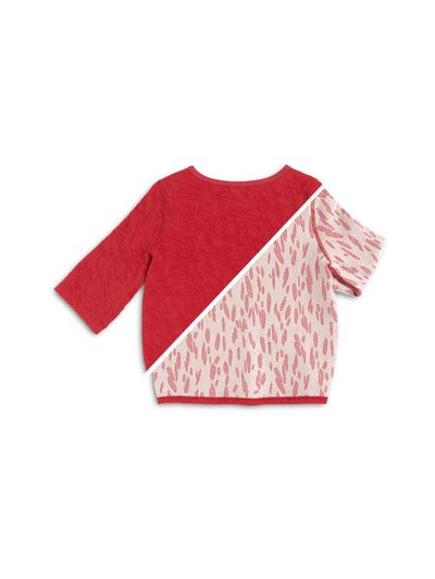 BOAT NECK PULLOVER CRASH STRAWBERRY REVERSIBLE – image 3