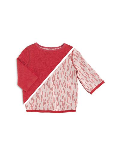 BOAT NECK PULLOVER CRASH STRAWBERRY REVERSIBLE – image 2