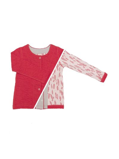 CARDIGAN REVERSIBEL (CRASH STRAWBERRY STRICK) – Bild 1