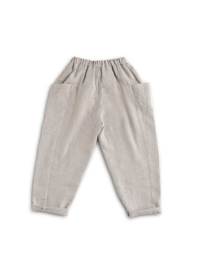 PULL-ON PANTS FAUX CARREAU – image 2