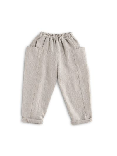 PULL-ON PANTS FAUX CARREAU – image 1