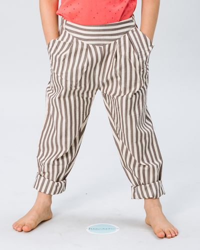 PLEATED PANTS SEERSUCKER – image 1