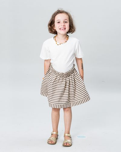 RUFFLED SKIRT SEERSUCKER – image 7