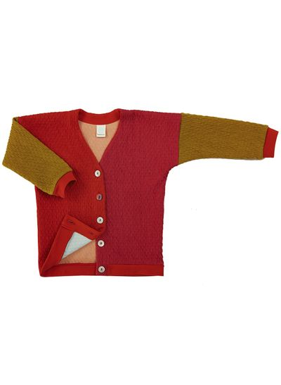 MERINO PATCHWORK CARDIGAN (KNIT MIX) – image 7