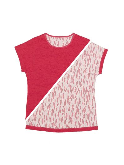 T-SHIRT REVERSIBEL (CRASH STRAWBERRY STRICK) – Bild 1