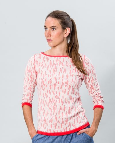 BOAT NECK PULLOVER REVERSIBLE (CRASH STRAWBERRY KNIT) – image 2