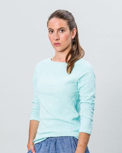 BOAT NECK PULLOVER REVERSIBLE (CRASH ZIGZAG KNIT) – image 1