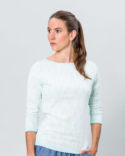BOAT NECK PULLOVER REVERSIBLE (CRASH ZIGZAG KNIT) – image 2