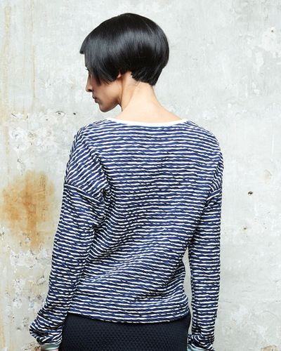 STRIPES PULLOVER REVERSIBLE (CRASH STRUCTURE KNIT) – image 1