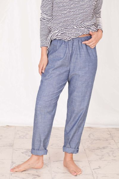PLEATED PANTS SUMMER COTTON – image 1