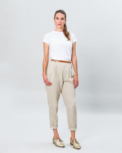 BUNDFALTENHOSE FAUX CARREAU