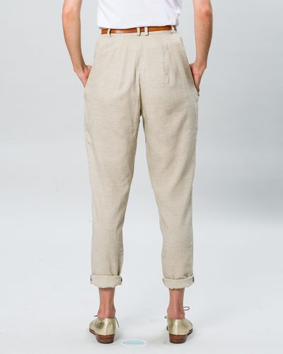PLEATED PANTS FAUX CARREAU – image 3