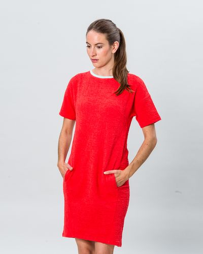 SHORT SLEEVE DRESS (CRASH STRAWBERRY KNIT) – image 1