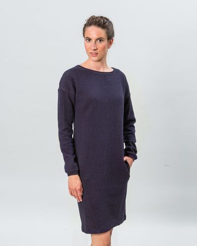 LONGSLEEVE MERINO DRESS (HERRINGBONE STRUCTURE KNIT) – image 2