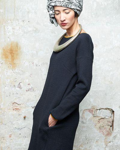 LONGSLEEVE MERINO DRESS (WAFFLE STRUCTURE KNIT) – image 5