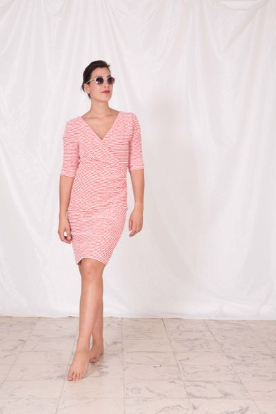 LONG SLEEVE DRESS (CRASH STRUCTURE KNIT) – image 1