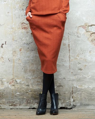 MERINO SKIRT (HERRINGBONE STRUCTURE KNIT) – image 3