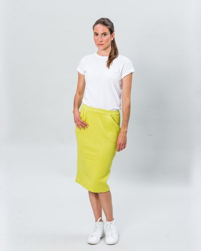 MERINO SKIRT (HERRINGBONE STRUCTURE KNIT) – image 7