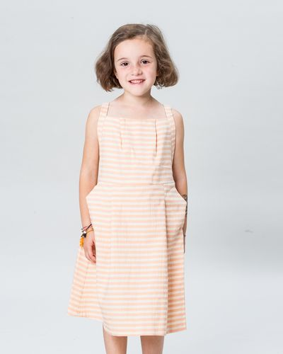 STRAPPY DRESS SEERSUCKER – image 1